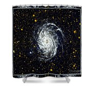 Nasa Big Brother To The Milky Way Shower Curtain by Rose Santuci-Sofranko