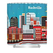 Nashville Shower Curtain by Karen Young
