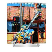 Nashville Legends Guitar Shower Curtain by Dan Sproul