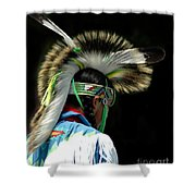 Native American Boy Shower Curtain by Kathleen Struckle