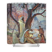 Nativity Shower Curtain by Frederic Montenard