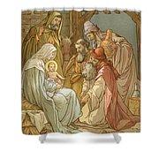 Nativity Shower Curtain by John Lawson