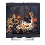 Nativity Scene Study Shower Curtain by Donna Tucker