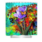 Nature Vs Caos Shower Curtain by Gary Grayson