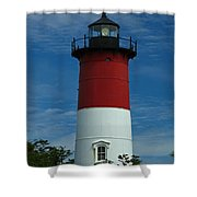 Nauset Beach Lighthouse Shower Curtain by Juergen Roth