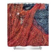 Nautical Nets Shower Curtain by Heidi Smith