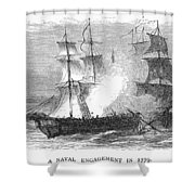 Naval Battle, 1779 Shower Curtain by Granger
