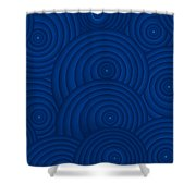 Navy Blue Abstract Shower Curtain by Frank Tschakert