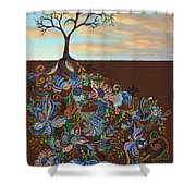 Neither Praise Nor Disgrace Shower Curtain by James W Johnson