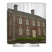 Nelson House Yorktown Shower Curtain by Teresa Mucha