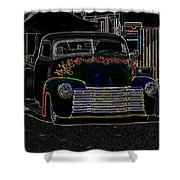 Neon 1948 Chevy Pickup Shower Curtain by Steve McKinzie