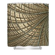 Network Gold Shower Curtain by John Edwards