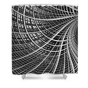 Network II Shower Curtain by John Edwards