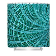 Network Shower Curtain by John Edwards