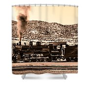 Nevada Northern Railway Shower Curtain by Robert Bales