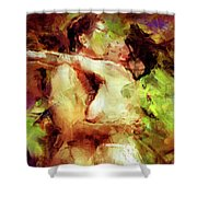 Never Let Me Go Shower Curtain by Kurt Van Wagner