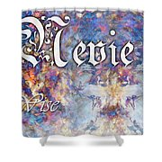 Nevie - Wise Shower Curtain by Christopher Gaston