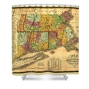 New England Shower Curtain by Gary Grayson