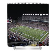 New England Patriots And Tom Brady Shower Curtain by Juergen Roth