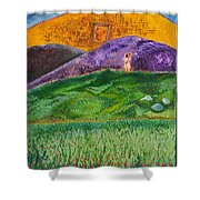 New Jerusalem Shower Curtain by Cassie Sears