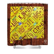 New Mexico State License Plate Map Shower Curtain by Design Turnpike