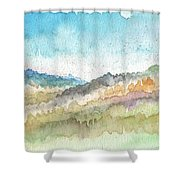 New Morning Shower Curtain by Linda Woods