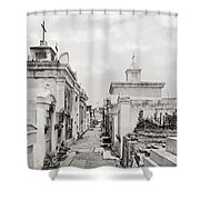 NEW ORLEANS: CEMETERY Shower Curtain by Granger