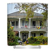 New Orleans Frat House Shower Curtain by Steve Harrington
