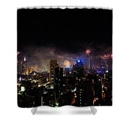 New Year Fireworks IIi Shower Curtain by Ray Warren