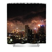 New Year Fireworks Shower Curtain by Ray Warren