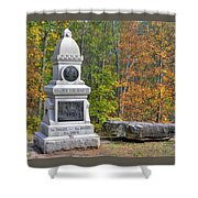 New York At Gettysburg - 149th Ny Infantry Autumn Mid-afternoon Culp's Hill Shower Curtain by Michael Mazaika