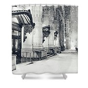 New York City - Snowy Winter Night Shower Curtain by Vivienne Gucwa