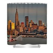New York City Sundown On The 4th Shower Curtain by Susan Candelario