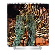 New York - Looking Toward The Avenue Shower Curtain by Paul Ward