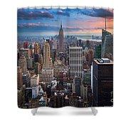 New York New York Shower Curtain by Inge Johnsson