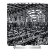 New York Public Library Main Reading Room X Shower Curtain by Clarence Holmes
