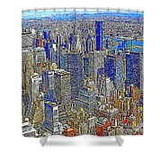New York Skyline 20130430v4-square Shower Curtain by Wingsdomain Art and Photography