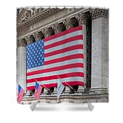 New York Stock Exchange IIi Shower Curtain by Clarence Holmes