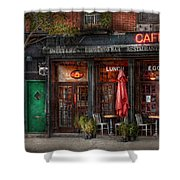 New York - Store - Greenwich Village - Sweet Life Cafe Shower Curtain by Mike Savad