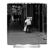 New York Street Photography 26 Shower Curtain by Frank Romeo