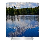 New York's Lake Abanakee Shower Curtain by David Patterson