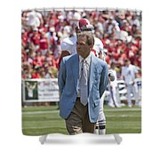 Nick Saban Head Football Coach of Alabama Shower Curtain by Mountain Dreams