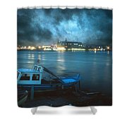 Night After Night Shower Curtain by Taylan Soyturk