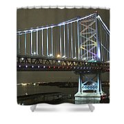 Night Crossing Shower Curtain by Rick  Monyahan