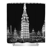 Night In Luna Park Shower Curtain by Nomad Art And  Design
