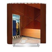 Night Interior With Window Shower Curtain by Ben and Raisa Gertsberg