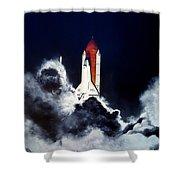 Night Launch Shower Curtain by Murphy Elliott