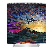 Night Ride Shower Curtain by Teshia Art
