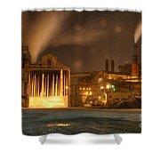 Night Shift Shower Curtain by Juli Scalzi