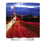 Night traffic Shower Curtain by Elena Elisseeva